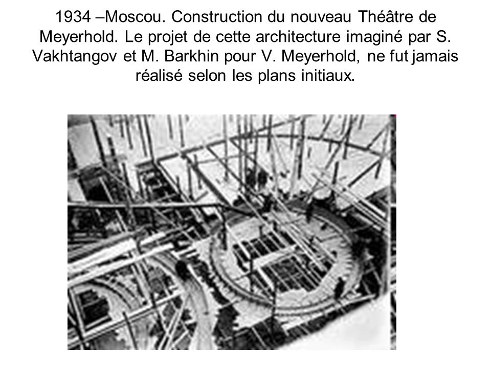 1934 –Moscou. Construction du nouveau Théâtre de Meyerhold