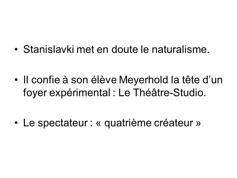 Stanislavki met en doute le naturalisme.