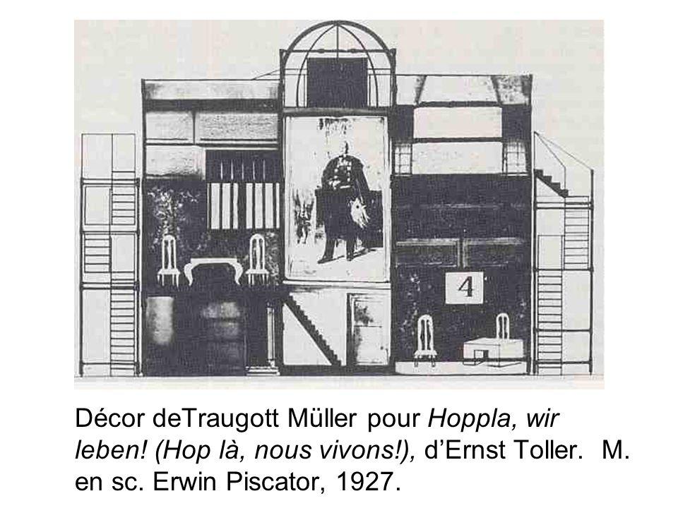 Décor deTraugott Müller pour Hoppla, wir leben. (Hop là, nous vivons