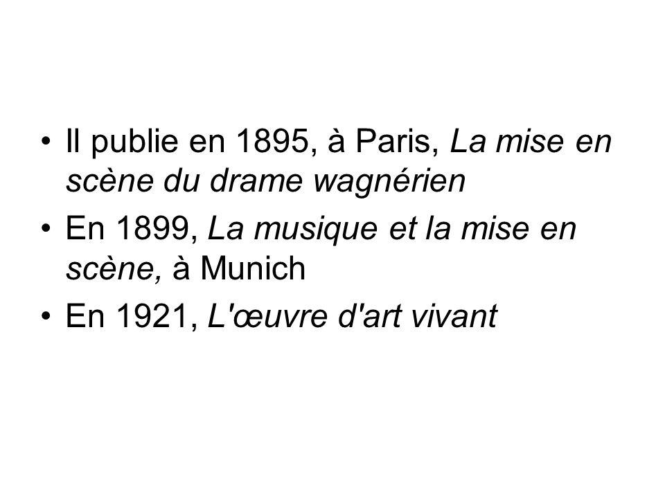 Il publie en 1895, à Paris, La mise en scène du drame wagnérien