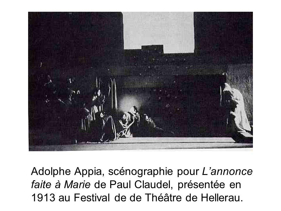 Adolphe Appia, scénographie pour L'annonce faite à Marie de Paul Claudel, présentée en 1913 au Festival de de Théâtre de Hellerau.