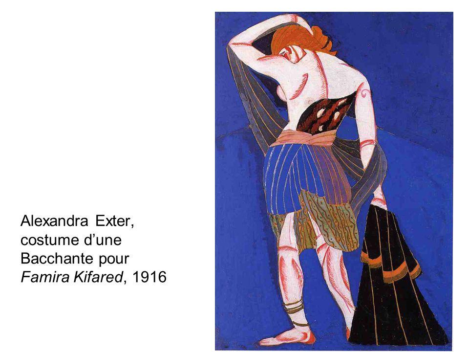 Alexandra Exter, costume d'une Bacchante pour Famira Kifared, 1916