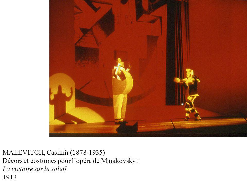 MALEVITCH, Casimir (1878-1935) Décors et costumes pour l'opéra de Maïakovsky : La victoire sur le soleil.