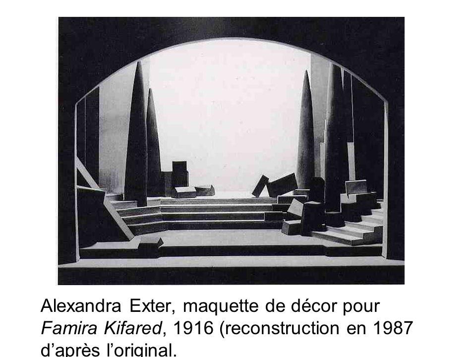 Alexandra Exter, maquette de décor pour Famira Kifared, 1916 (reconstruction en 1987 d'après l'original.