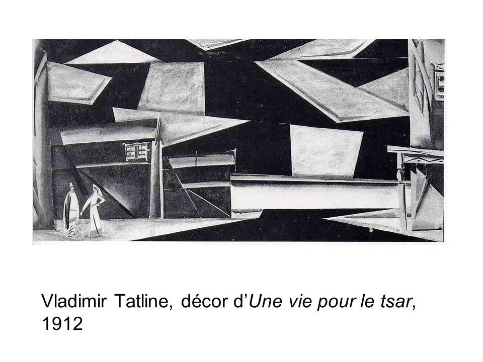 Vladimir Tatline, décor d'Une vie pour le tsar, 1912