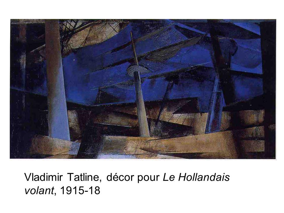 Vladimir Tatline, décor pour Le Hollandais volant, 1915-18
