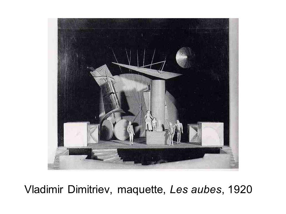 Vladimir Dimitriev, maquette, Les aubes, 1920
