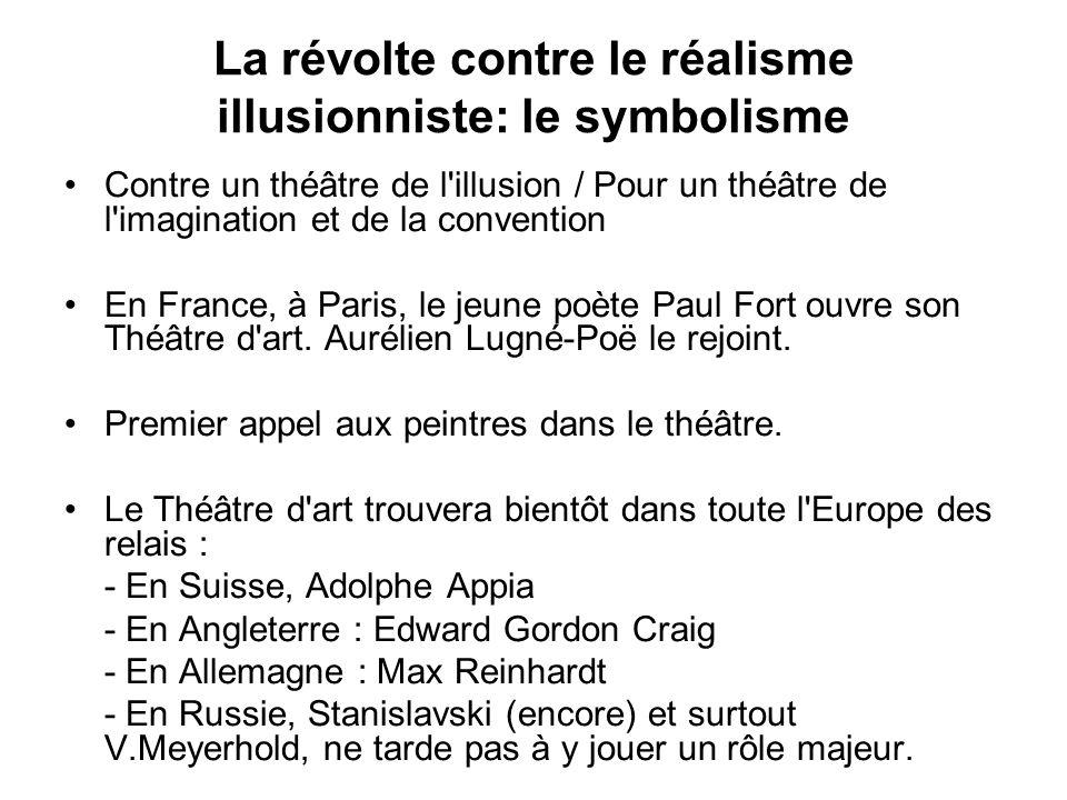 La révolte contre le réalisme illusionniste: le symbolisme