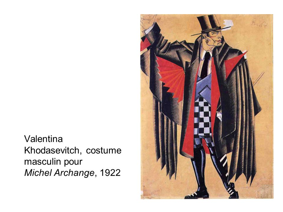 Valentina Khodasevitch, costume masculin pour Michel Archange, 1922