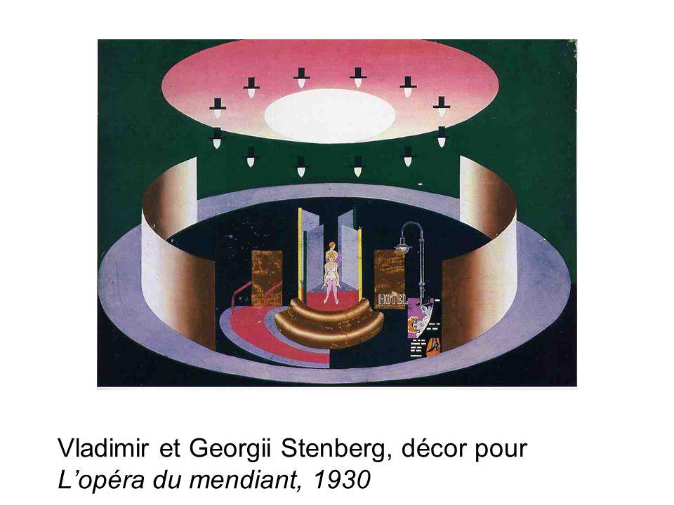 Vladimir et Georgii Stenberg, décor pour L'opéra du mendiant, 1930