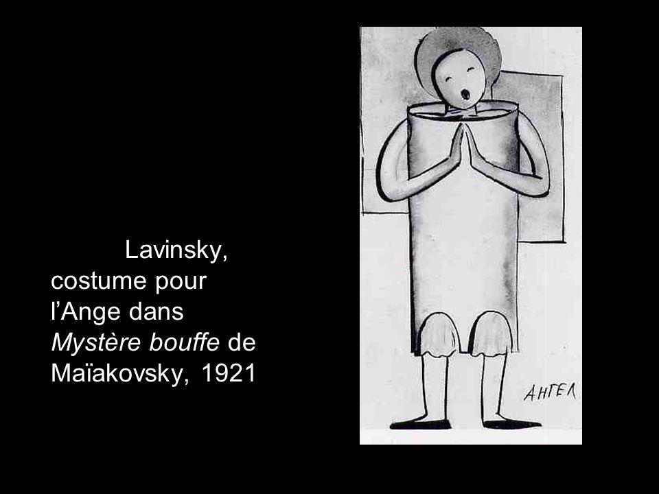 Anton Lavinsky, costume pour l'Ange dans Mystère bouffe de Maïakovsky, 1921