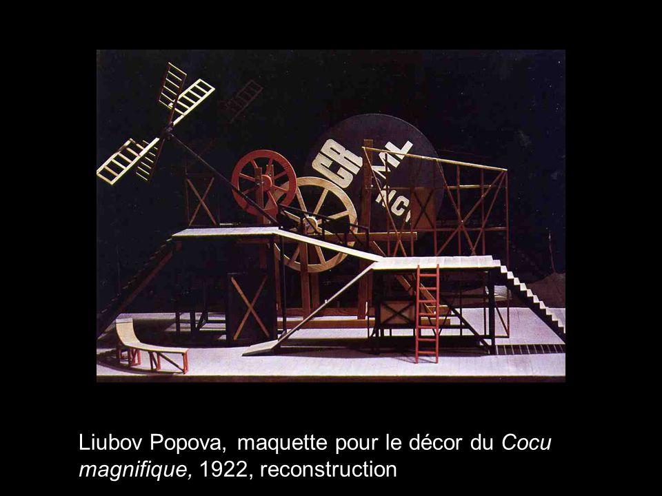 Liubov Popova, maquette pour le décor du Cocu magnifique, 1922, reconstruction