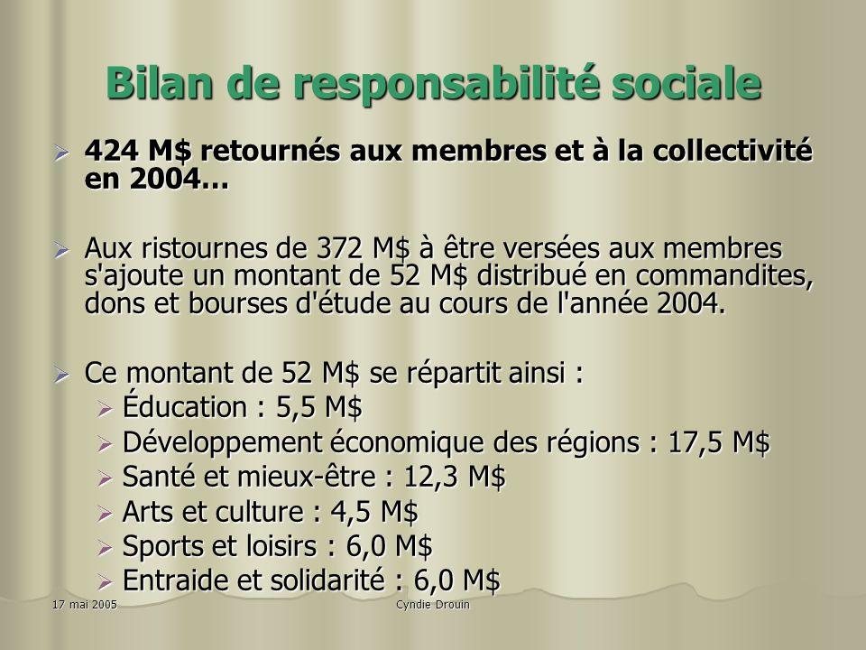 Bilan de responsabilité sociale