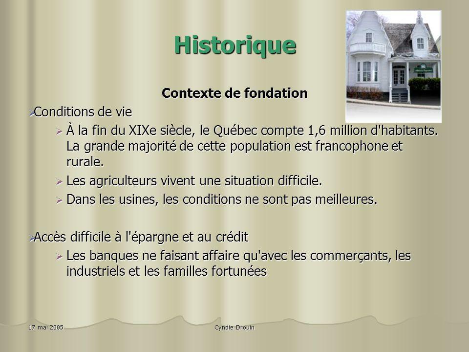 Historique Contexte de fondation Conditions de vie