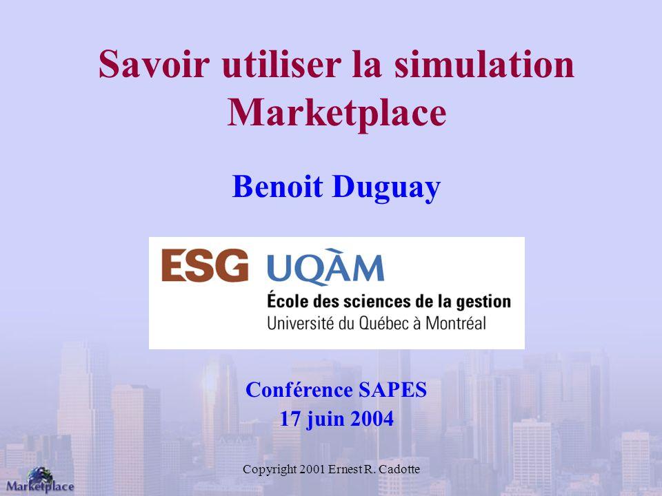 Savoir utiliser la simulation Marketplace