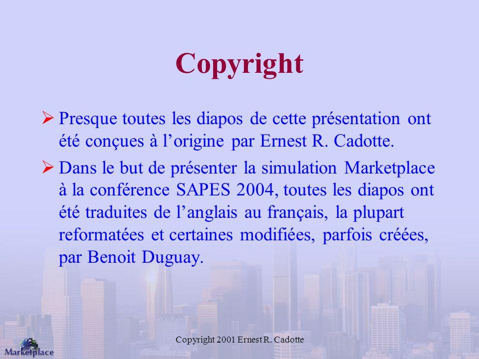 Copyright 2001 Ernest R. Cadotte