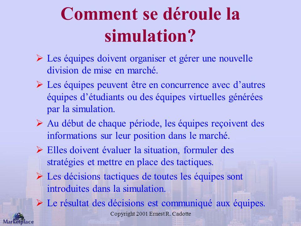 Comment se déroule la simulation