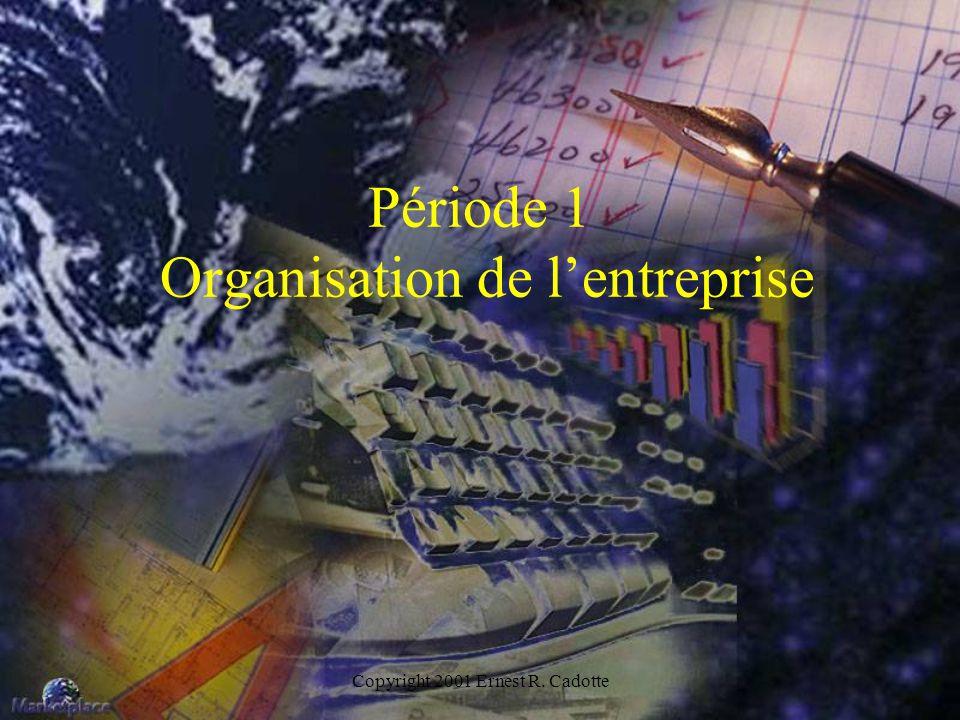 Période 1 Organisation de l'entreprise