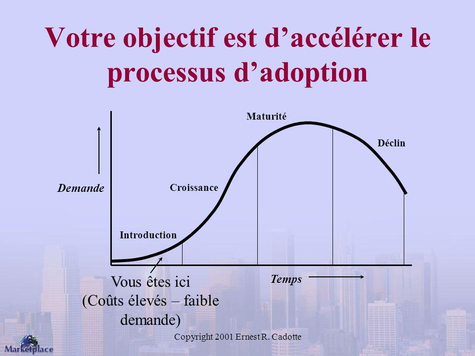Votre objectif est d'accélérer le processus d'adoption