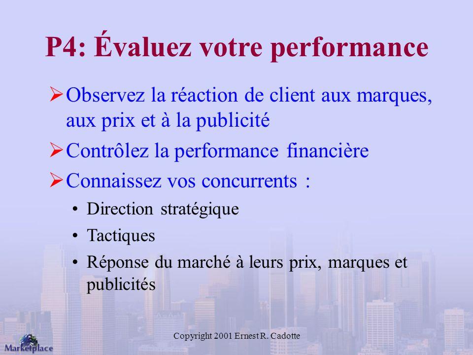 P4: Évaluez votre performance