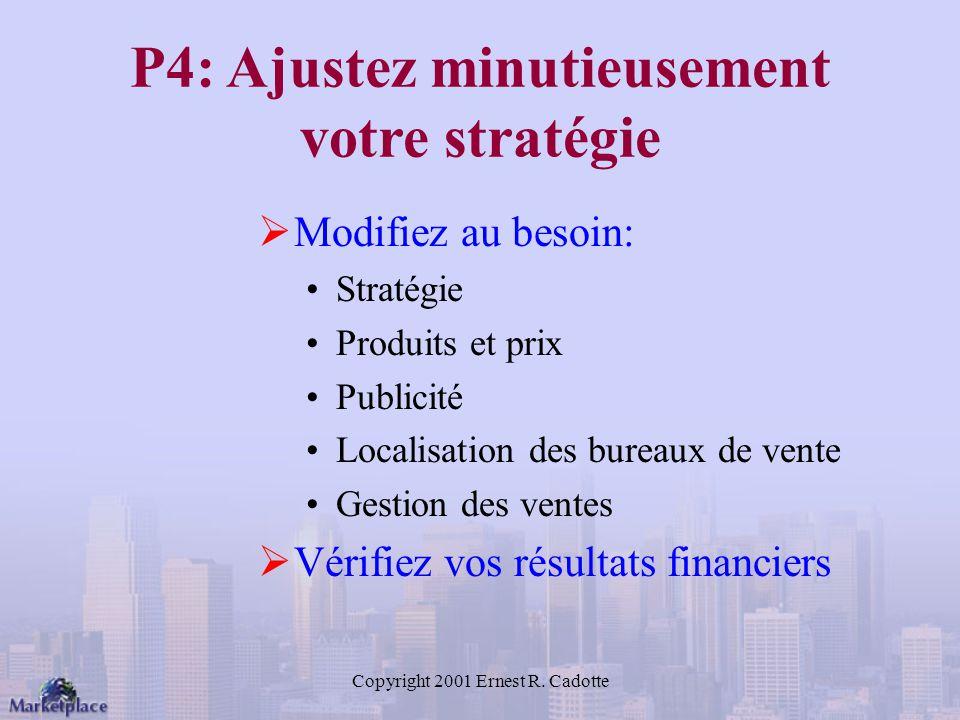 P4: Ajustez minutieusement votre stratégie