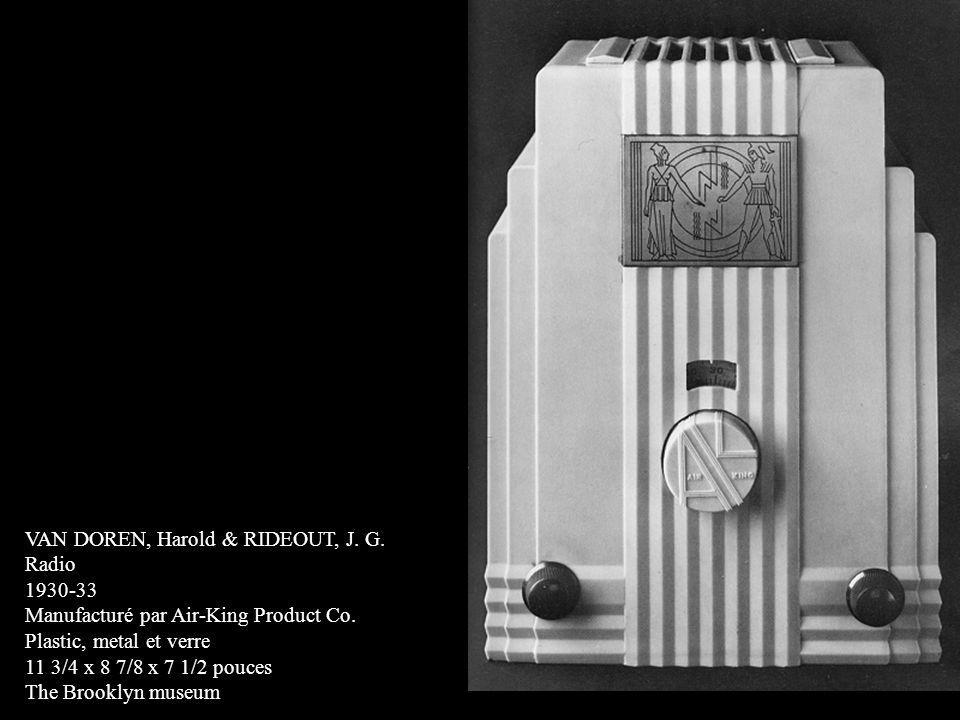 VAN DOREN, Harold & RIDEOUT, J. G.