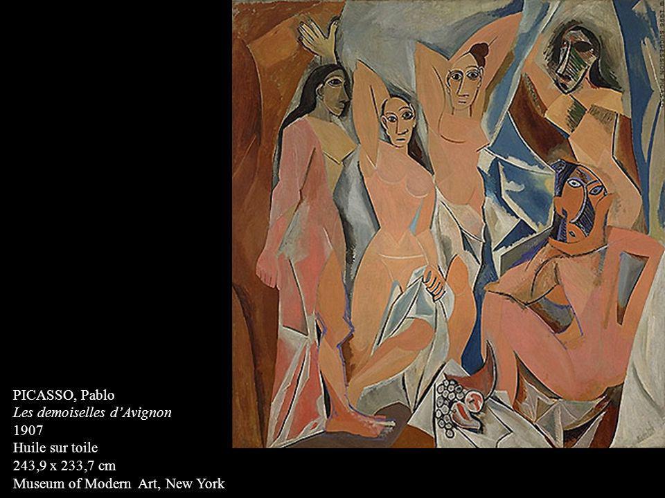 PICASSO, Pablo Les demoiselles d'Avignon. 1907. Huile sur toile.