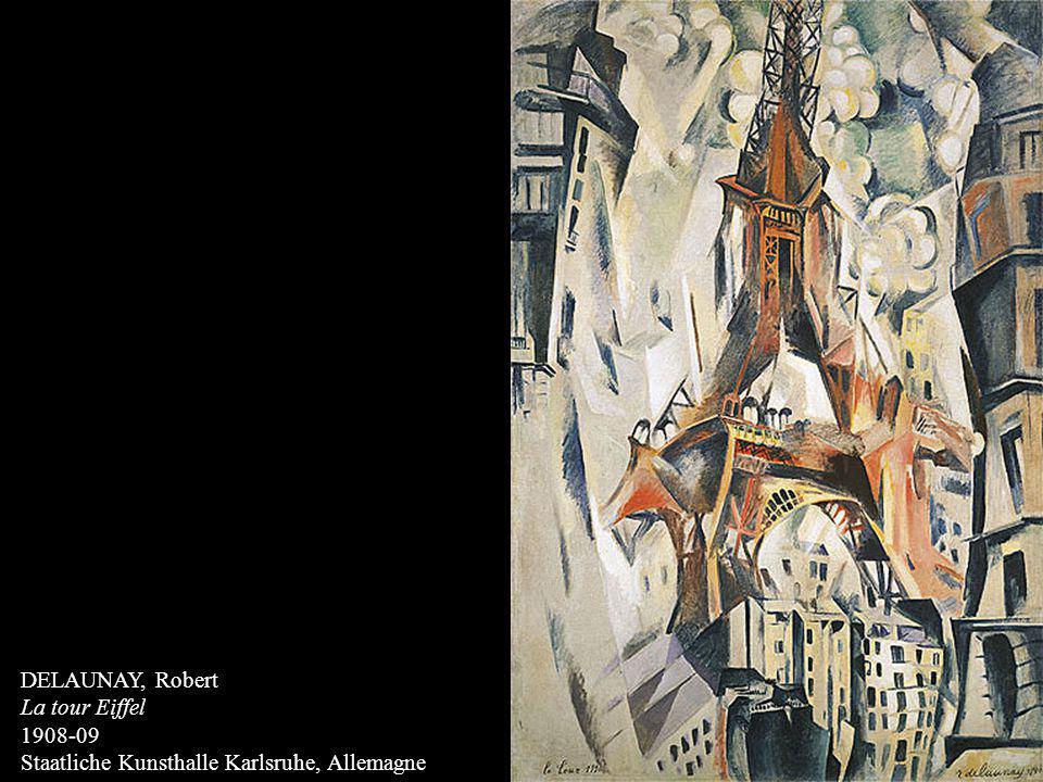DELAUNAY, Robert La tour Eiffel 1908-09 Staatliche Kunsthalle Karlsruhe, Allemagne