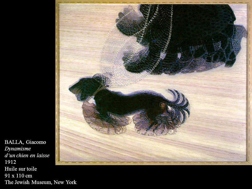 BALLA, Giacomo Dynamisme. d'un chien en laisse. 1912.