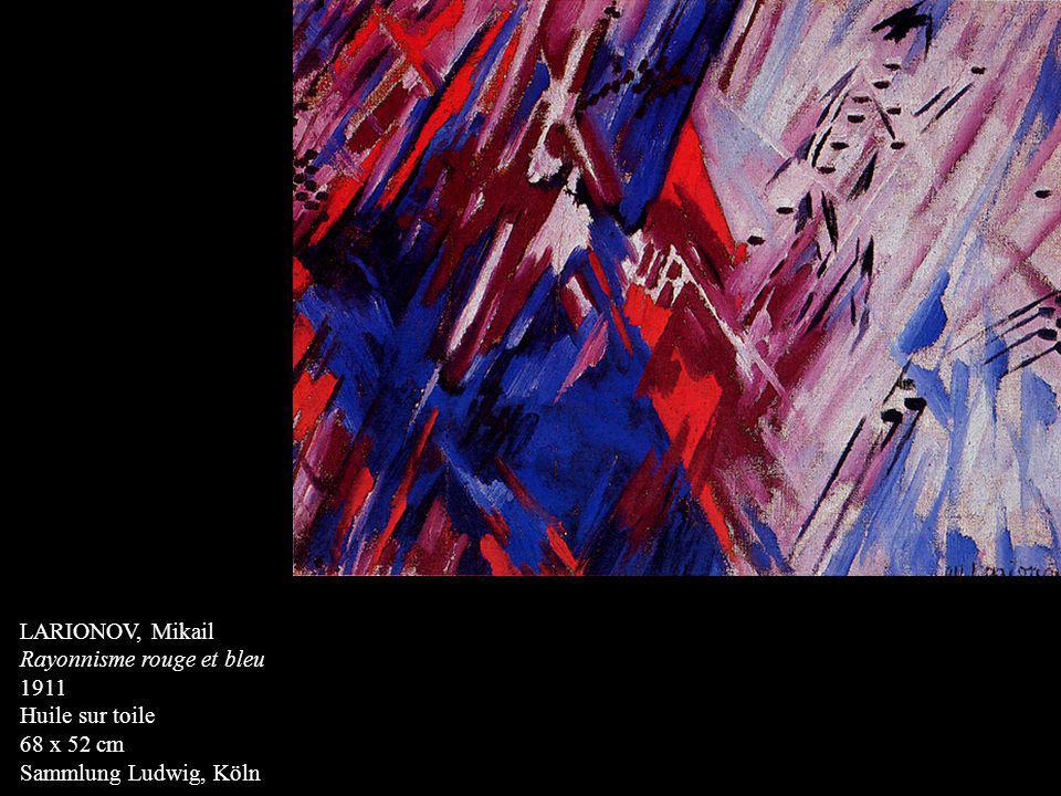LARIONOV, Mikail Rayonnisme rouge et bleu 1911 Huile sur toile 68 x 52 cm Sammlung Ludwig, Köln