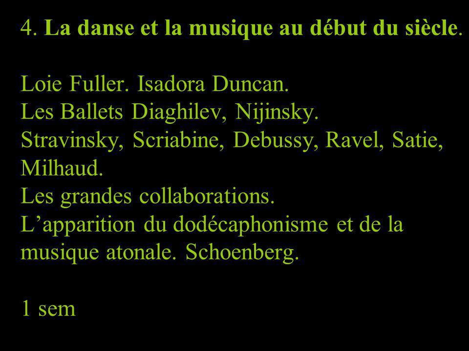 4. La danse et la musique au début du siècle. Loie Fuller