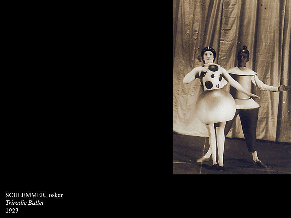 SCHLEMMER, oskar Triradic Ballet 1923