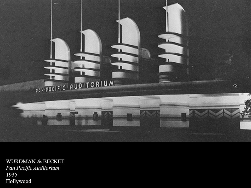 WURDMAN & BECKET Pan Pacific Auditorium 1935 Hollywood