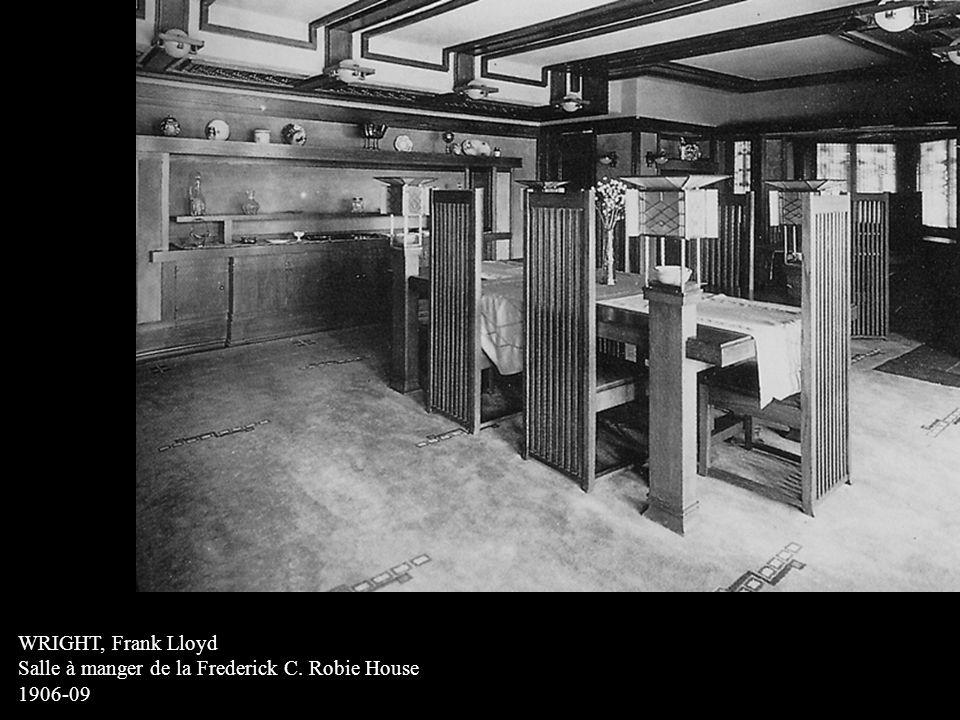 WRIGHT, Frank Lloyd Salle à manger de la Frederick C. Robie House 1906-09