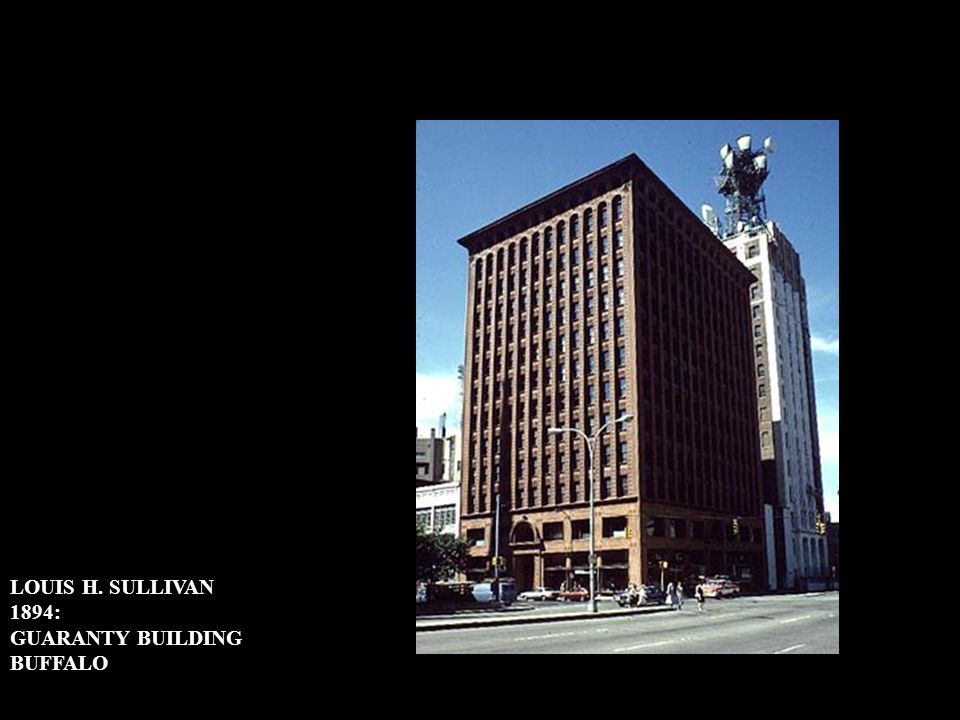LOUIS H. SULLIVAN 1894: GUARANTY BUILDING BUFFALO