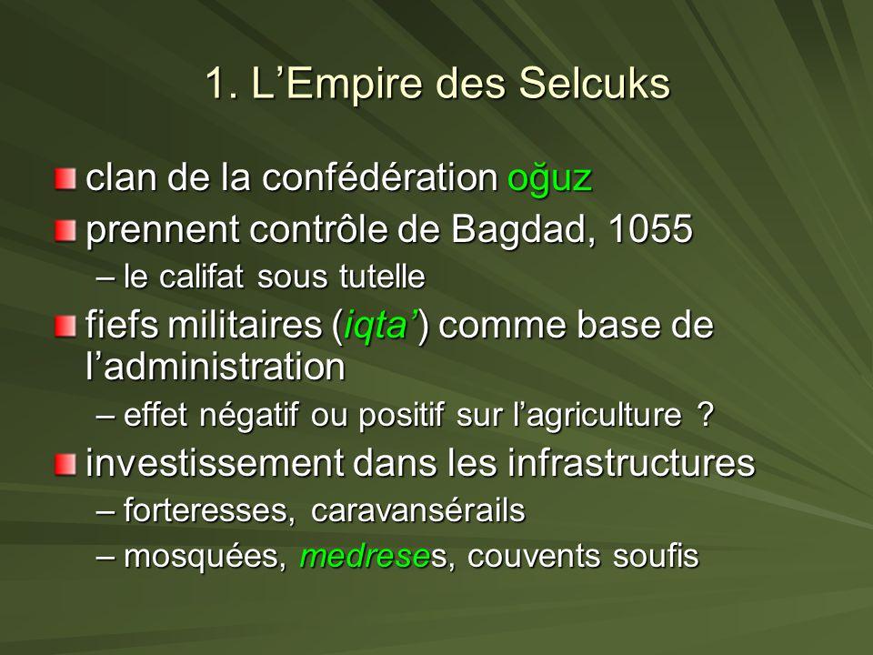 1. L'Empire des Selcuks clan de la confédération oğuz