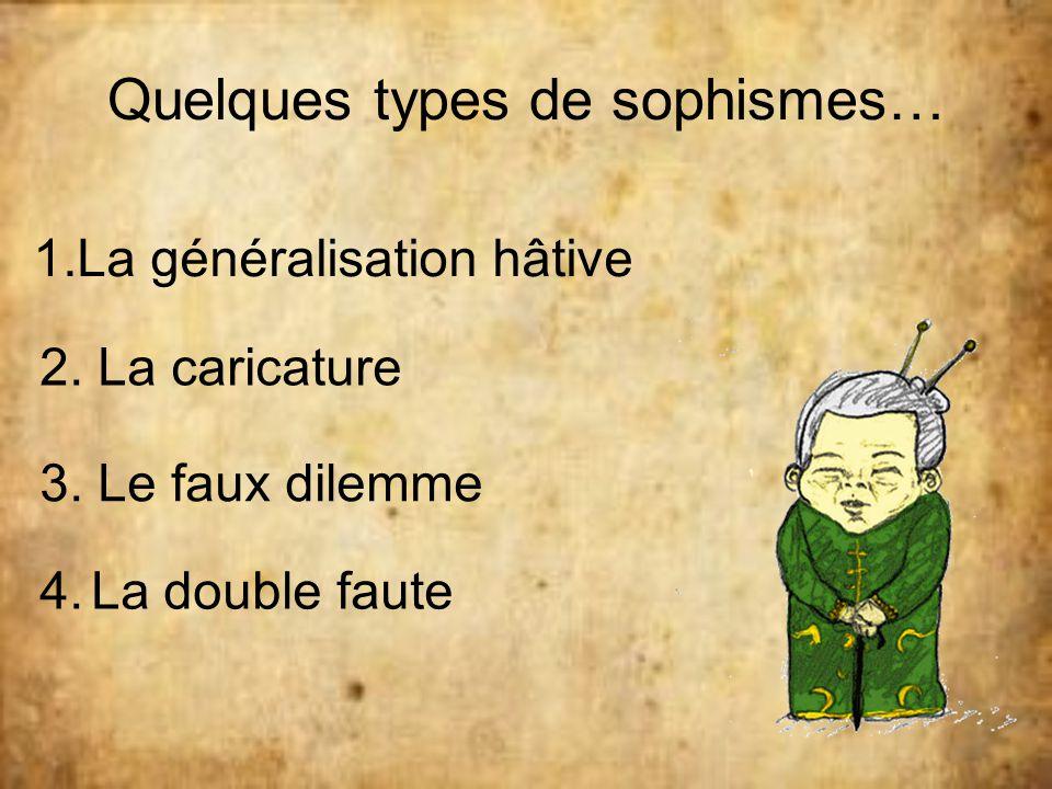 Quelques types de sophismes…