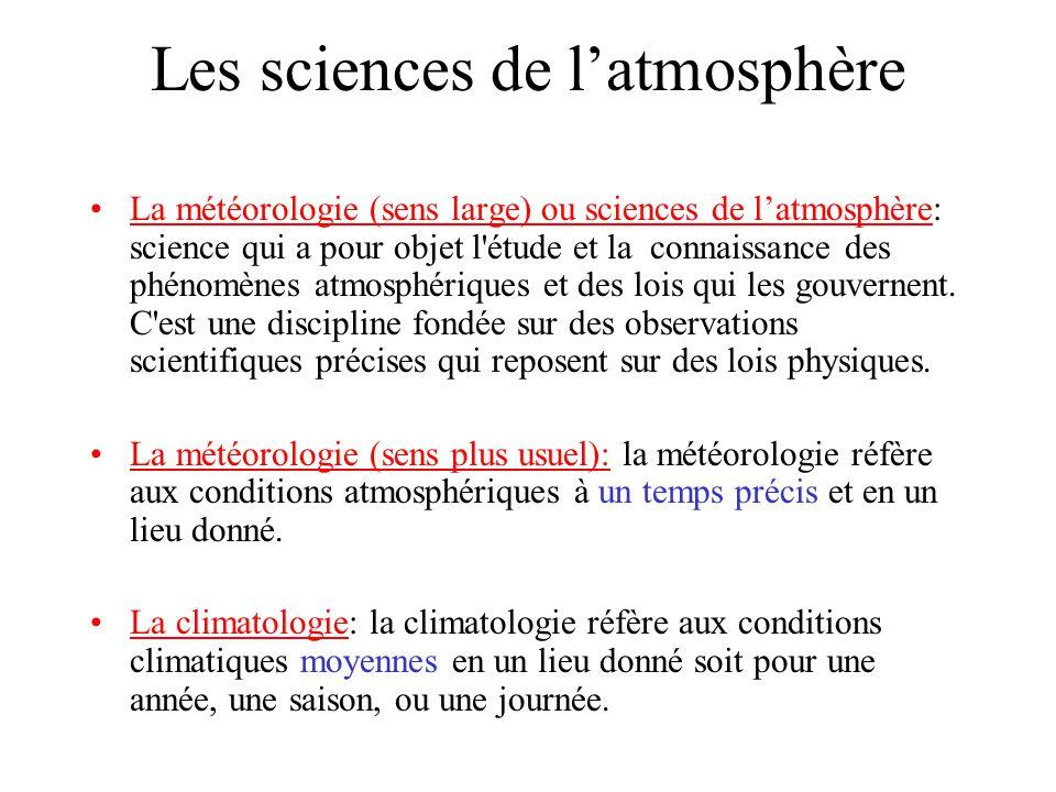 Les sciences de l'atmosphère
