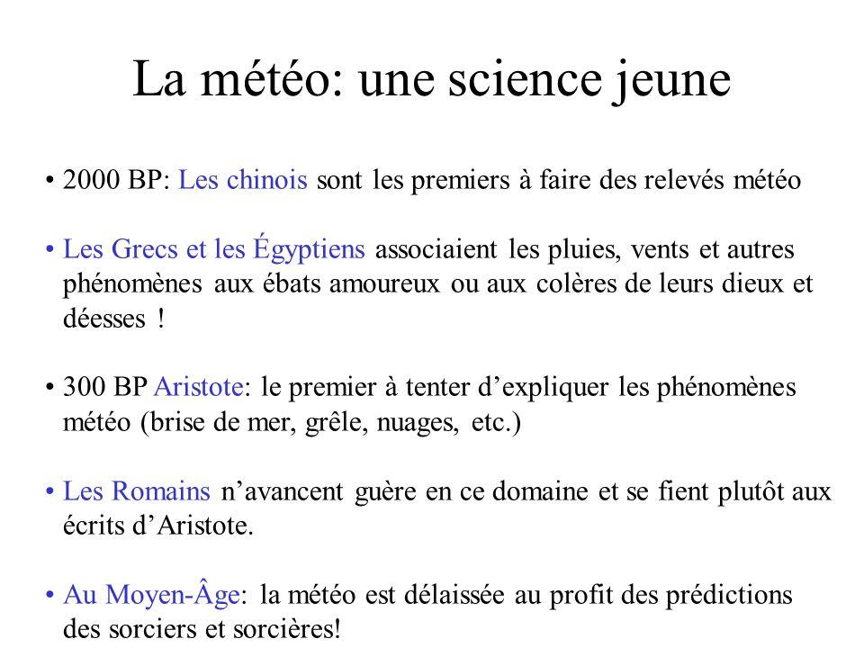 La météo: une science jeune