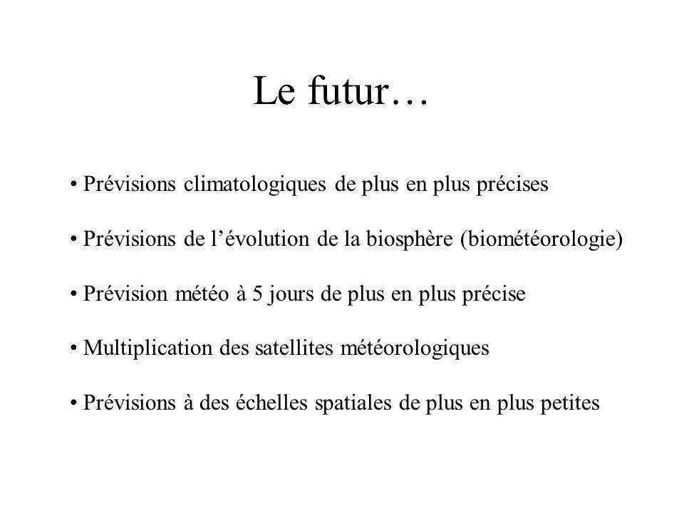 Le futur… Prévisions climatologiques de plus en plus précises
