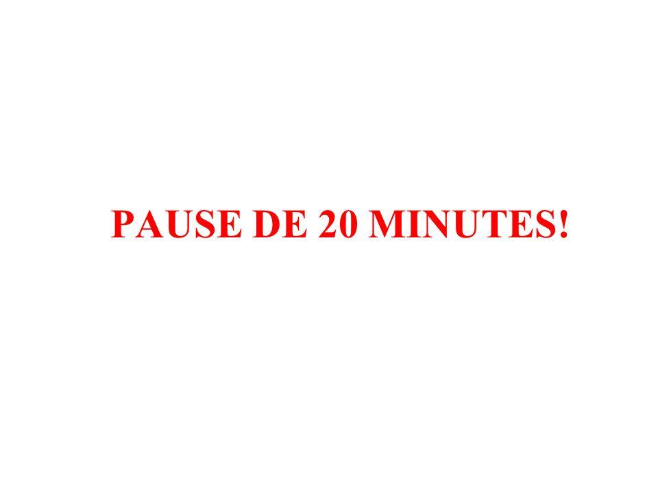 PAUSE DE 20 MINUTES!