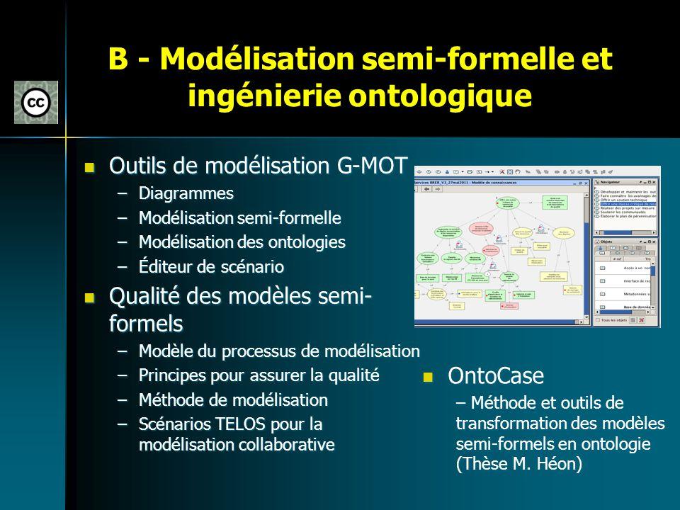 B - Modélisation semi-formelle et ingénierie ontologique