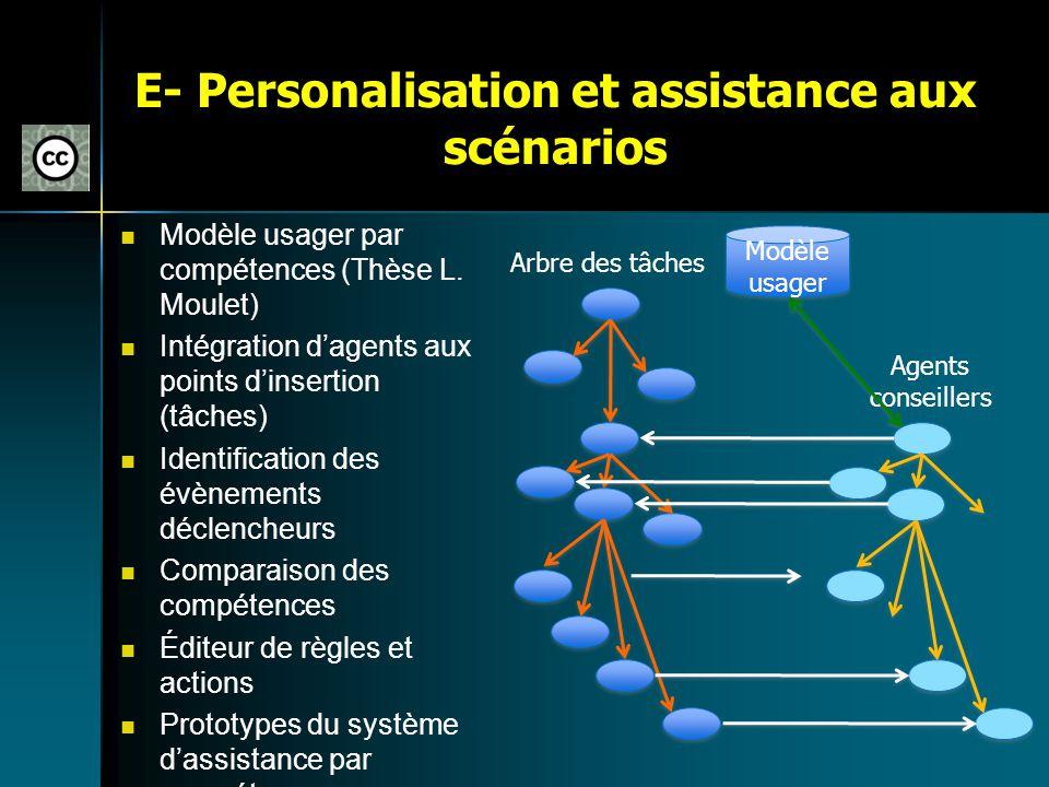 E- Personalisation et assistance aux scénarios