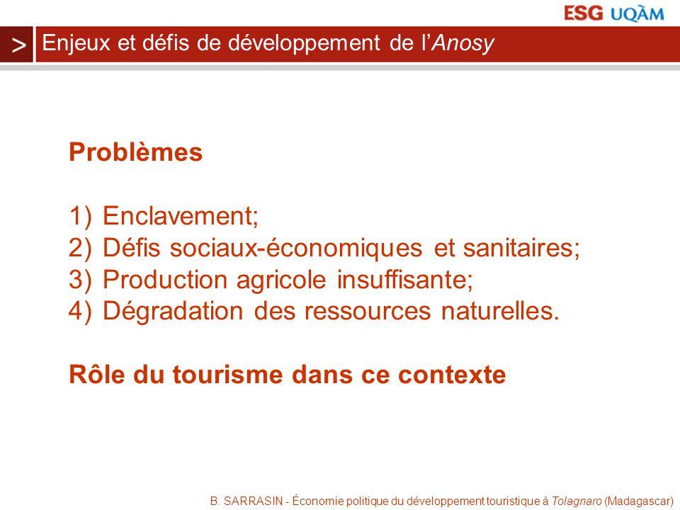 Défis sociaux-économiques et sanitaires;