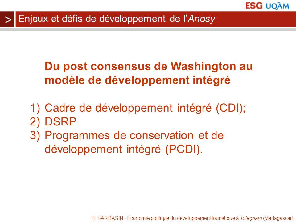 Du post consensus de Washington au modèle de développement intégré