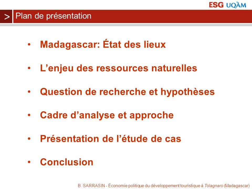 Madagascar: État des lieux L'enjeu des ressources naturelles