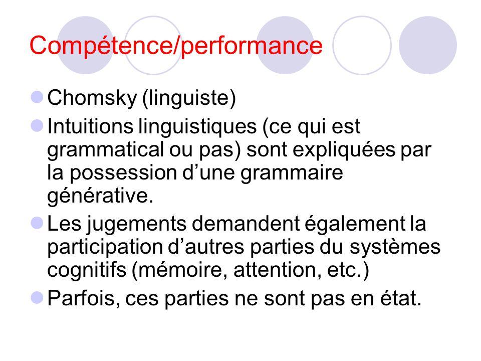 Compétence/performance