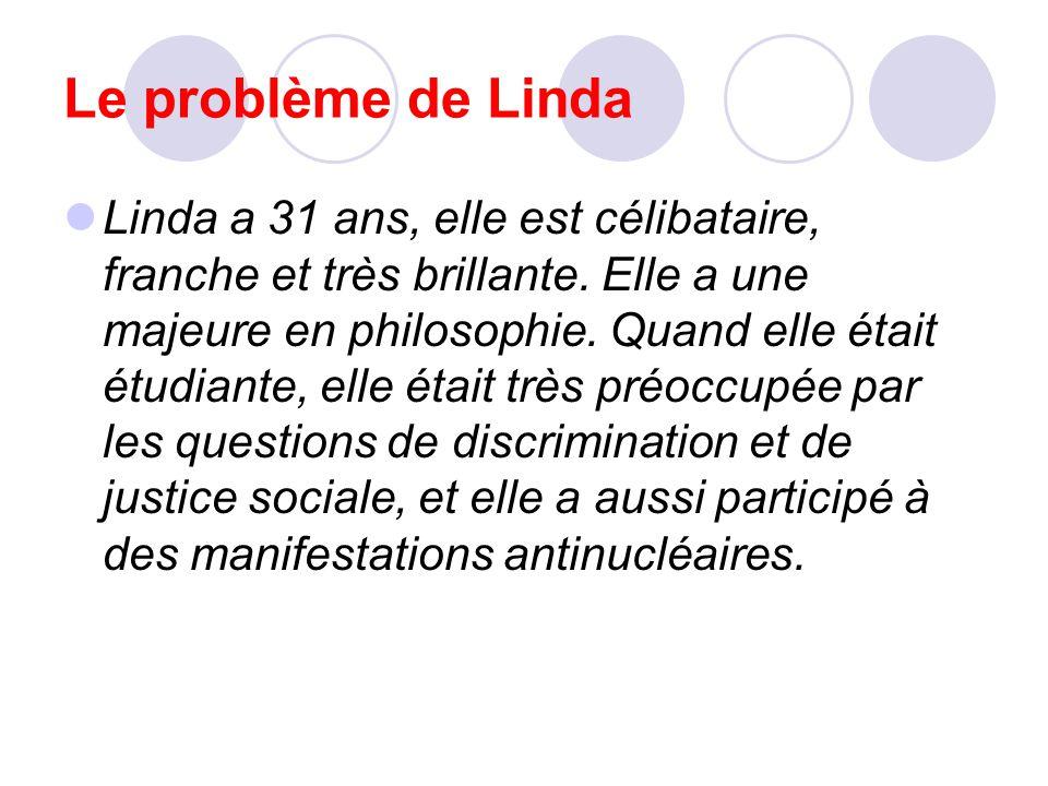 Le problème de Linda