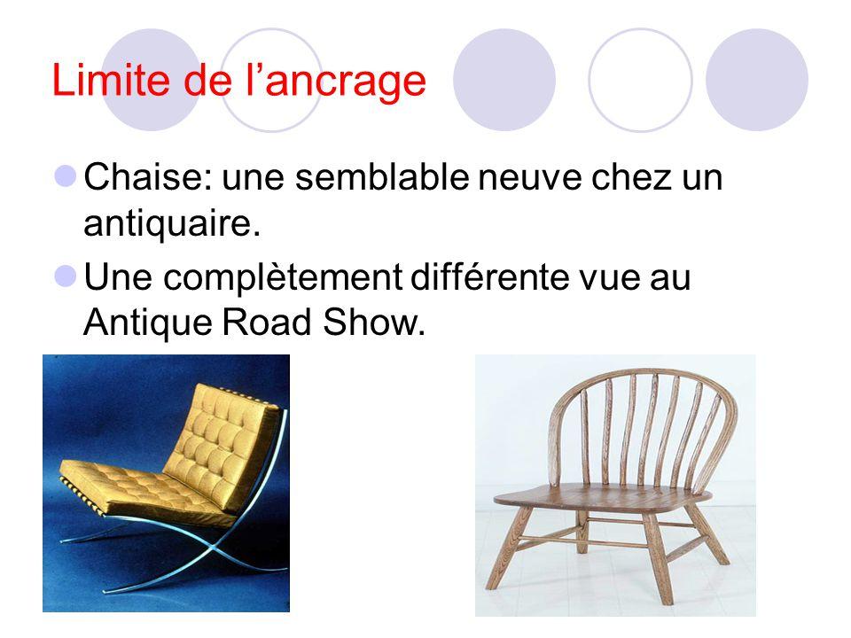 Limite de l'ancrage Chaise: une semblable neuve chez un antiquaire.