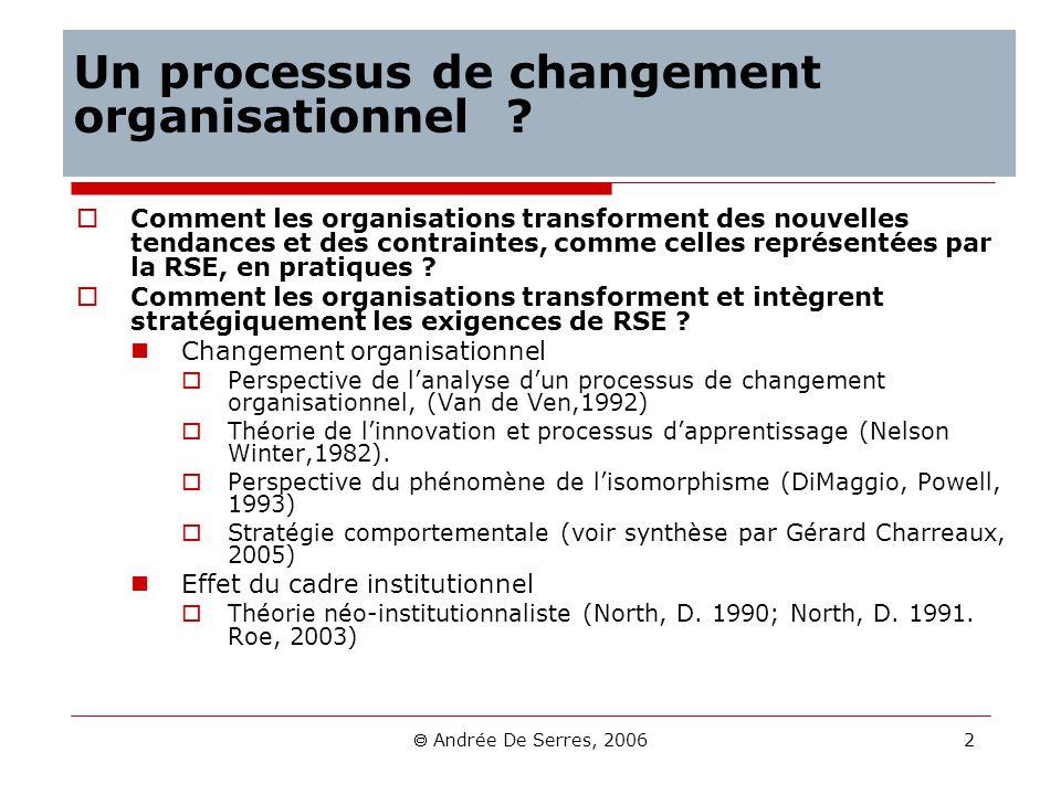 Un processus de changement organisationnel